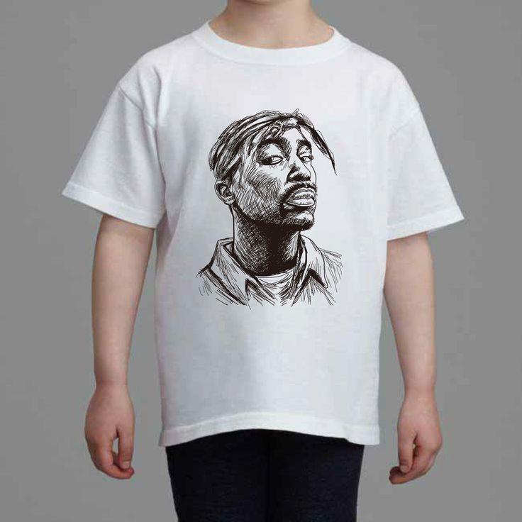 Tupac Shakur Kids White Tee (Unisex) // Hip Hop Thug Life California // Babes & Gents // www.babesngents.com