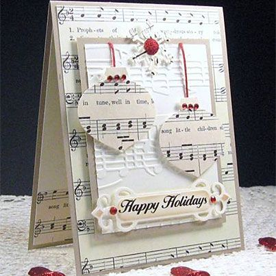 Singing Ornaments Use any framelit to cut out the music note paper - maybe balloons for a birthday card