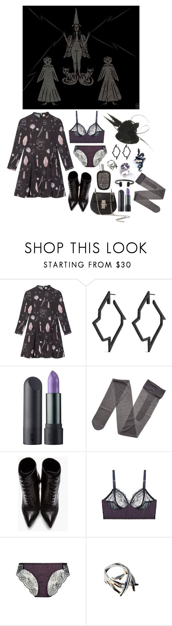 """What is a witch"" by ghoulnextdoor ❤ liked on Polyvore featuring Samantha Pleet, Lynn Ban, Bite, Gerbe, Yves Saint Laurent, Fortnight and Kendra Scott"