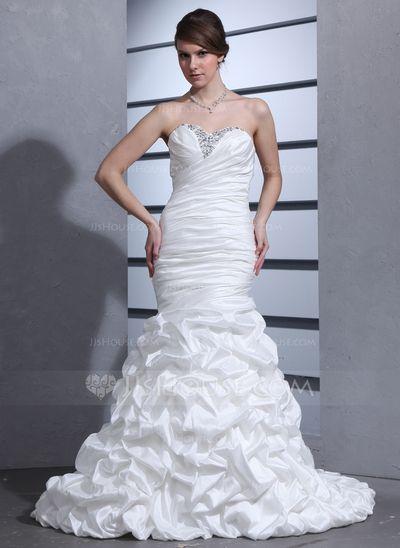 Wedding Dresses - $212.99 - Trumpet/Mermaid Sweetheart Court Train Taffeta Wedding Dress With Ruffle Beading (002000670) http://jjshouse.com/Trumpet-Mermaid-Sweetheart-Court-Train-Taffeta-Wedding-Dress-With-Ruffle-Beading-002000670-g670