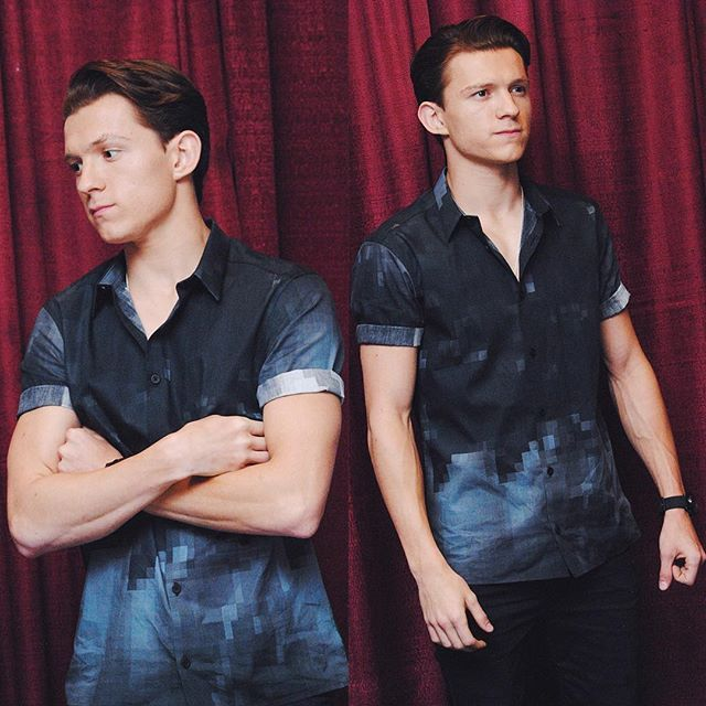 Tom Holland - - - LOVE the rolled up sleeves.  Hope it continues to catch on here in the US!