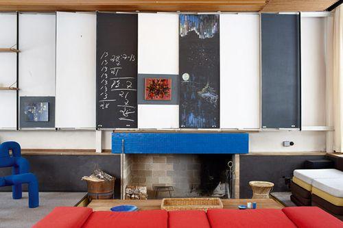 Planetveien 12, architect Arne Korsmo / livingroom, fire place