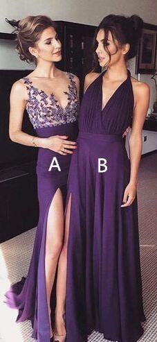 purple long prom dress, 2017 prom dress, best friends must have