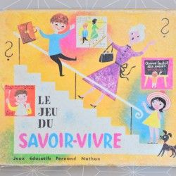 Jeu du savoir vivre -Fernand Nathan  - Pauline et paulette la boutique vintage : www.paulineetpaulette.Fr
