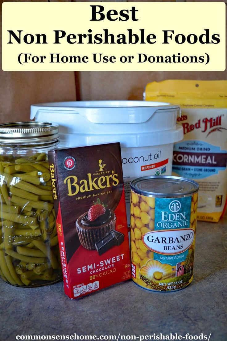 Best non perishable foods for home use or donations in
