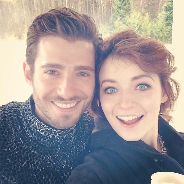 Julian Morris and Sarah Bolger (Phillip & Aurora)