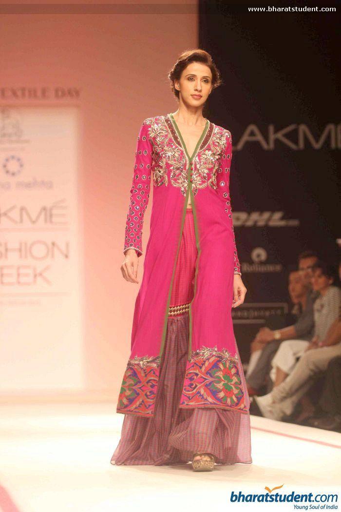 Krishna Mehta Show at Lakme Fashion Week Winter / Festive 2013