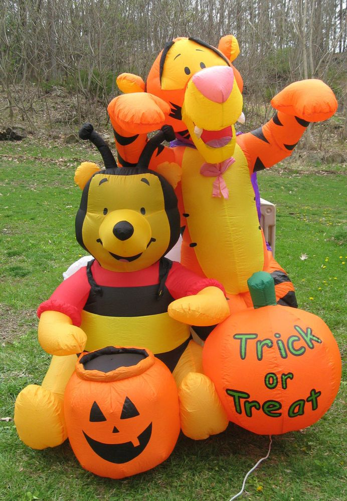 disney winnie the pooh tigger lighted airblown inflatable halloween