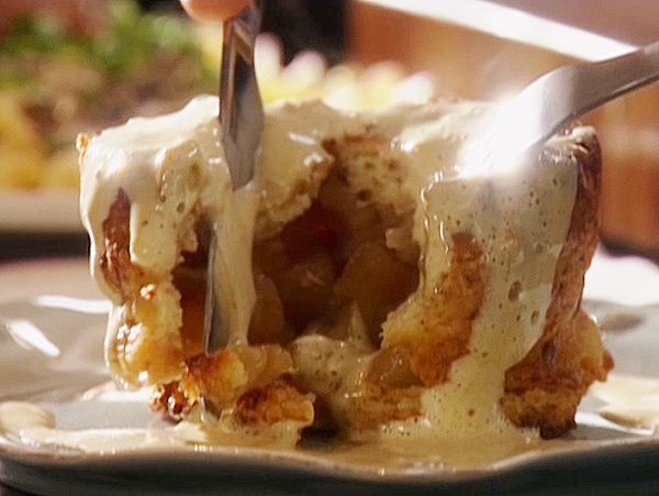 Downton Abbey's Mr Strallan's fave dessert: Apple Charlotte with Cinnamon Sabayon from FoodNetwork.com