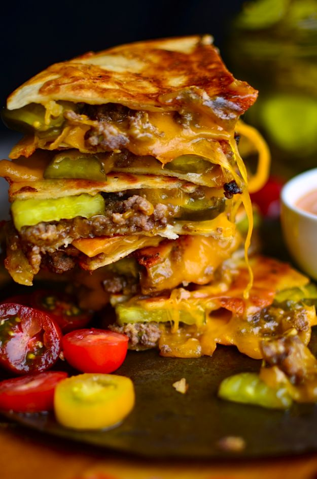 Cheeseburger Quesadillas                                                                                                                                                                                 More