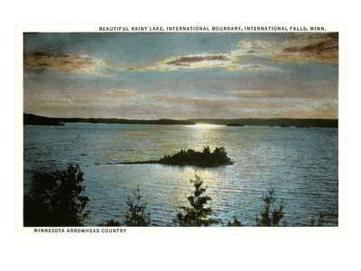 Rainy Lake, International Falls, Minnesota Art Print at Art.com