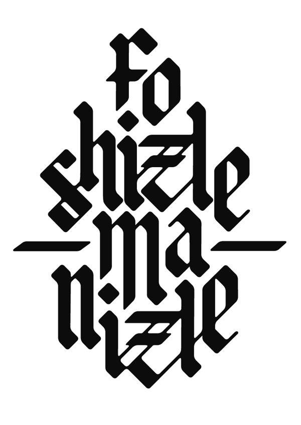 words of hip hop by Tobias Degel, via Behance