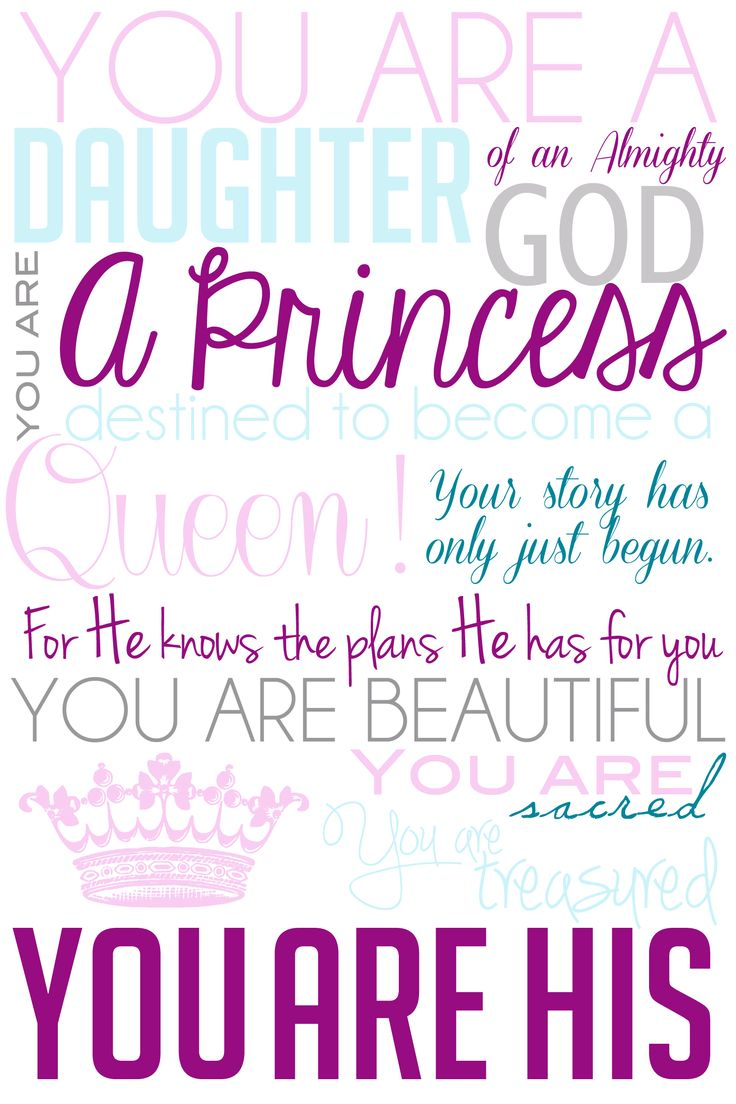 Girlfriend Princess Quote : I decided to make my own version of the daughter god