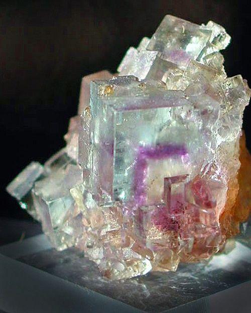 mindat.org, Fluorite with purple phantom / Minerva No. 1 Mine, Cave-in-Rock, Hardin Co., Illinois,