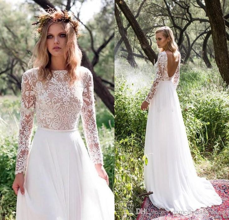 Wholesale halter neck wedding dresses, pink wedding gowns and shopping online for dresses on DHgate.com are fashion and cheap. The well-made 2016 long sleeves country wedding dresses vintage lace sexy bateau neck backless white chiffon bohemian beach bridal gowns cheap plus size sold by nameilishawedding is waiting for your attention.