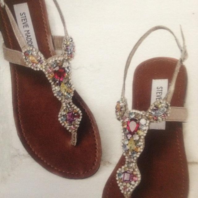 4b9ff1cac3e Steve Madden jeweled sandals