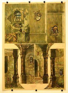 c. 75 / c. 76 / c. 77 / c. 78. / c. 79 / c. 80 / c. 81 [Teile für Burg-, Kerker- und Kapellen- Dekorationen, Stapfer`s Familientheater]
