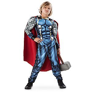 Your little one will be transformed from mere mortal to Asgardian legend with this Mighty Thor Costume. Our heroic outfit includes padded tunic, detachable cape, and pants crafted especially for adventure.