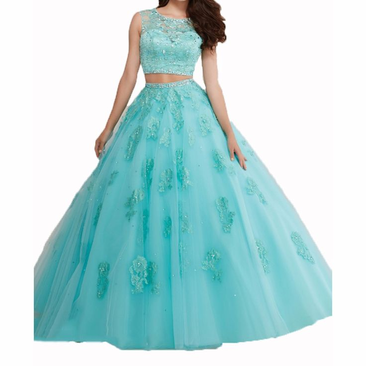Peach-Two-Pieces-Navy-Blue-Quinceanera-Dresses-Turquoise-Sweet-16-Dresses-Vestidos-15-Anos-Quinceanera-Cheap