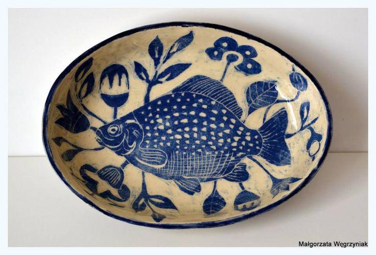 MW Ceramics Forma do zapiekania #malgorzatawegrzyniak #polandhandmade #ceramics #plates #pottery #sgraffito #blue #mold #baking #moldforbaking