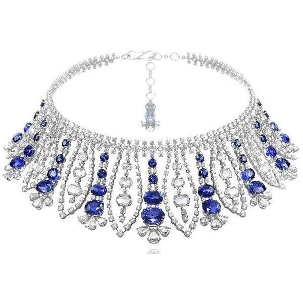 @chopard. #necklace #sapphire #diamonds