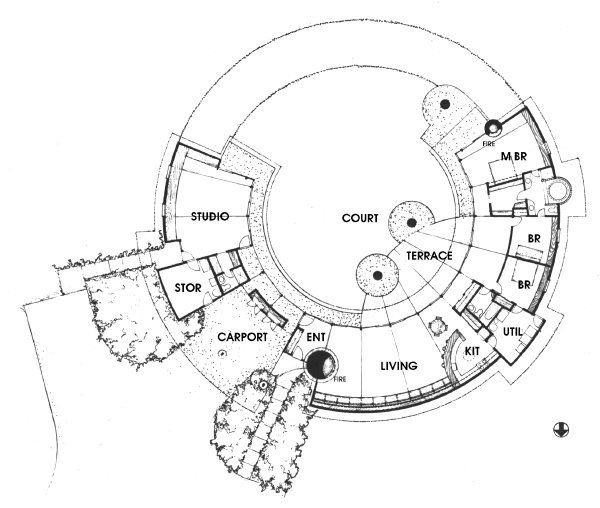 Solar Hemicycle Plan Make Master Bathroom Only Accessible From Master Bedroom House