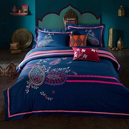 memorecool home textile retro design exquisite embroidery 4 piece bedding set cotton twill applique flower quilt