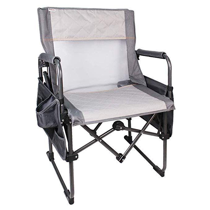 Zenree Heavy Duty Folding Director S Chair Camping Portable Full