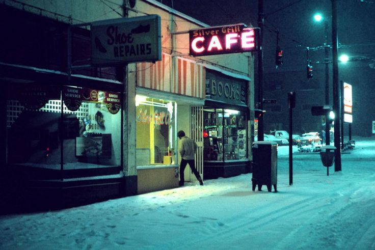 Silver Grill Cafe, 6am. Vancouver, 1975 by Greg Girard