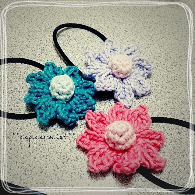 オーダー品  ヘアゴム完成o(^o^)o    #crochet  #hairaccessory