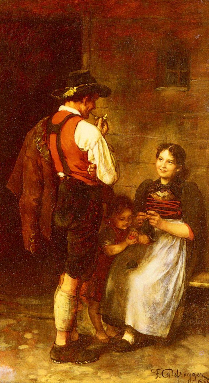 Franz Von Defregger, The Happy Family
