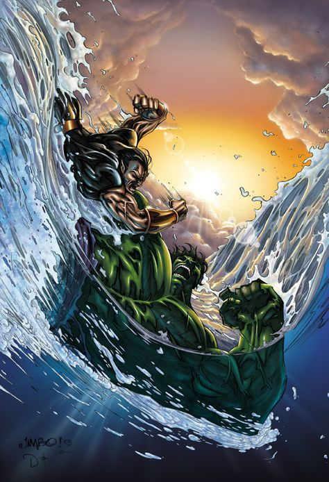 #Hulk #Fan #Art. (Hulk Vs Namor cover) By: DAVID-OCAMPO. (THE * 5 * STÅR * ÅWARD * OF: * AW YEAH, IT'S MAJOR ÅWESOMENESS!!!™)[THANK U 4 PINNING!!!<·><]<©>ÅÅÅ+(OB4E)    https://s-media-cache-ak0.pinimg.com/564x/69/b9/5e/69b95e1b4b4ef078c5f3c1579b7aa06f.jpg