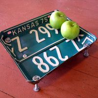 The Art Of Up-Cycling: Old License Plate - Ideas For Old License Plates, Honestly Too Cool