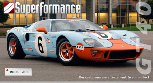 Superformance gt40 mkI.  Check out the detailed specs: http://www.superformance.com/gt40.aspx