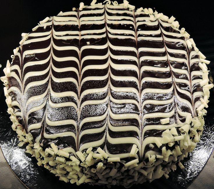 Chokoladekage, Ganache, Hvid Chokolade, Sød, Mad