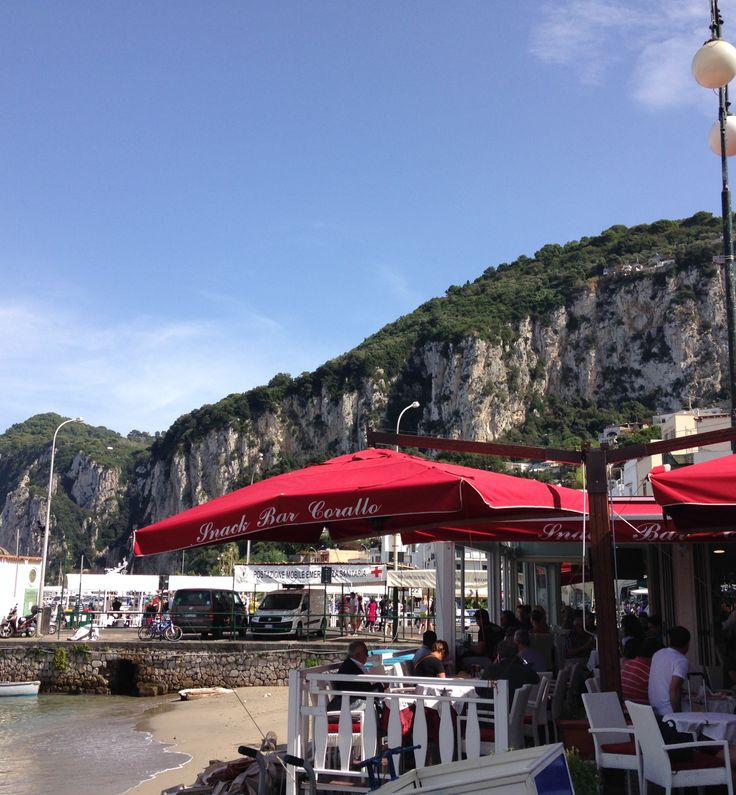 Travel to the Romantic Isle of Capri! One of the Marinas on the Isle of Capri in Southern Italy.