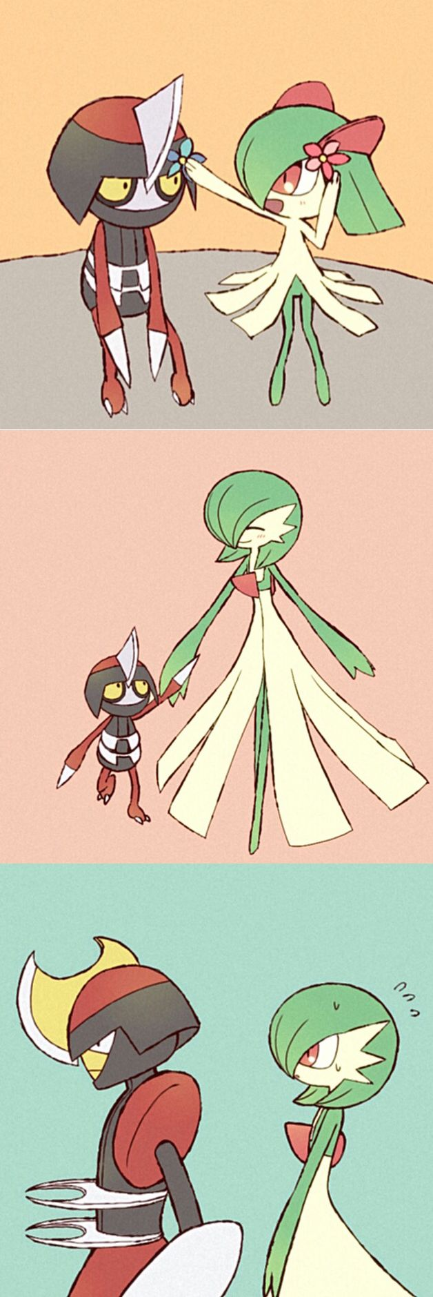 He Means Well Though He S Keeping Her Away Because He Doesn T Want To Hurt Her Since Fairy Psychic Is Weak To Dar Cute Pokemon Pokemon Pictures Pokemon Comics