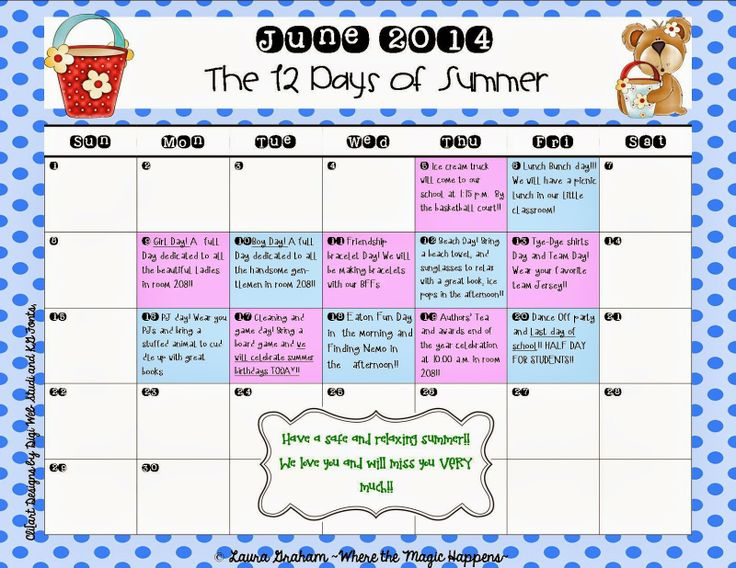 End Of Year Calendar : Best images about printable calendar activities free
