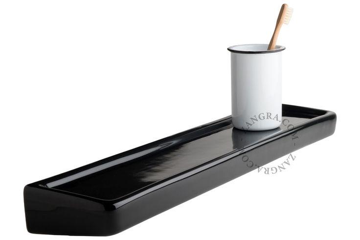 planchet in porselein - zwart - boven MAKE UP TAFEL
