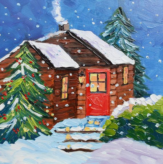 38 best in a cabin in the woods images on pinterest for Log cabin painting