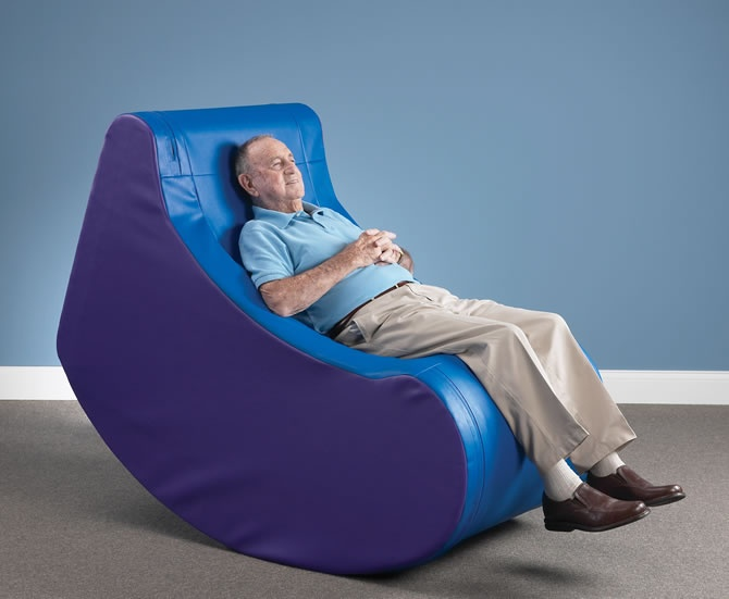 Southpaw Sensory Rocker - Adult. Would be a great seating option for his sensory room, although its very large.