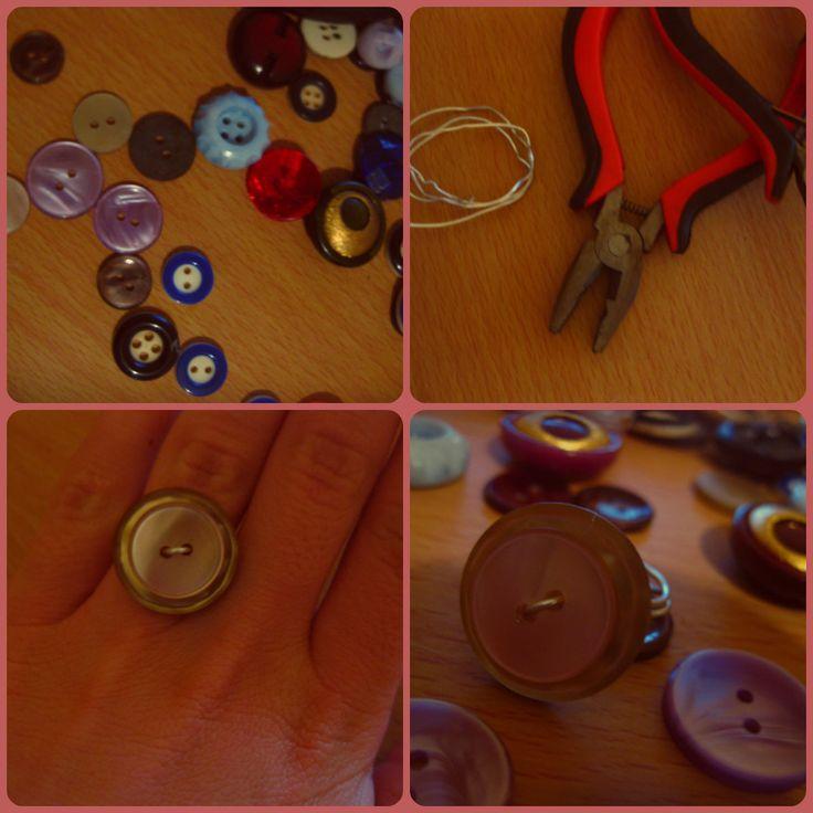 DIY easy button ring.