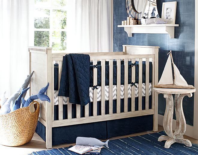 I love the Pottery Barn Kids Navy Linen Nursery on potterybarnkids.com