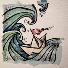 Image result for paper boat drawing                              …