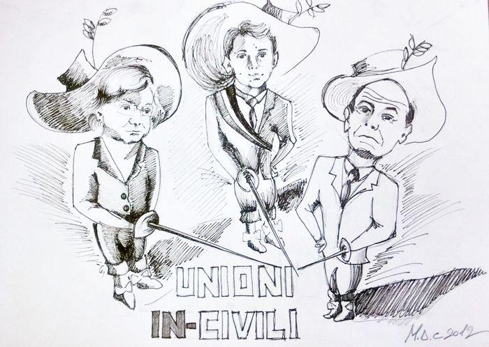 #VIGNETTA: Unioni In-Civili #Bindi, #Renzi, #Bersani