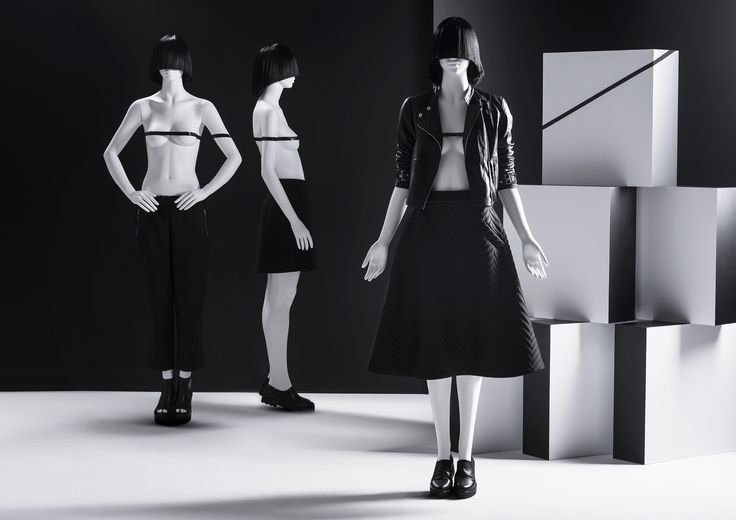 ONE Collection #MoreMannequins #FemaleMannequins #WindowDisplay #fashion #wigs #geometry