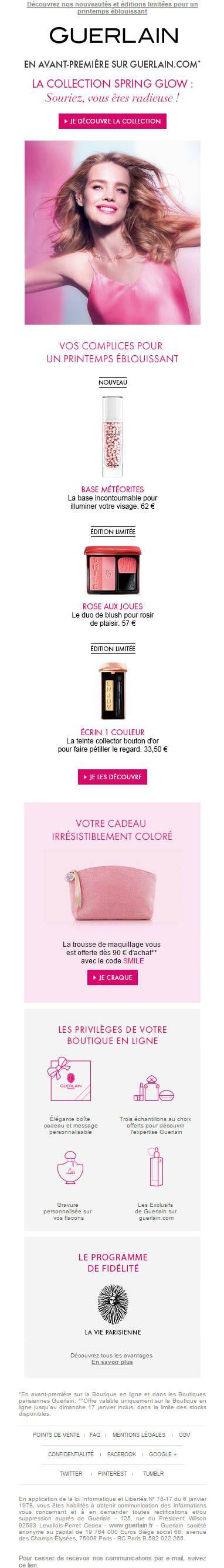 Guerlain - Email nouvelle collection