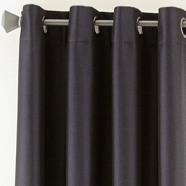 50x108 Gun Metal Studio Finley Blackout Grommet Top Curtain Panel Jcpenney Master