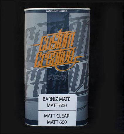 Barniz mate Matt Clear 600 de Custom Creative