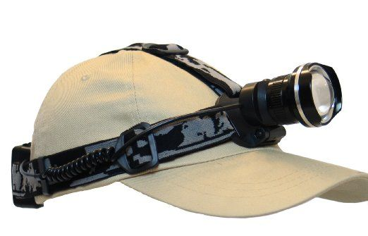 Best & brightest headlamp you'll ever use! Cree XM-L T6 Led Headlamp - Zoomable Super Bright Headlight For Hunting, Fishing, Backpacking, Camping, Hiking, Cycling, Outdoors and more! ...